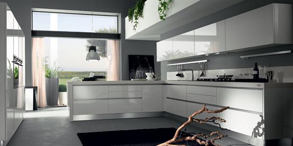 Cocinas blancas lacadas - Cocinas minimalistas blancas ...